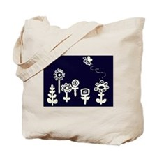 Flowers and bee Tote Bag