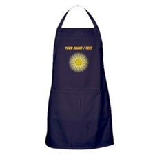 Custom Yellow Daisy Apron (dark)