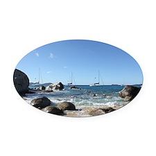 BVI Sailing Boats Oval Car Magnet