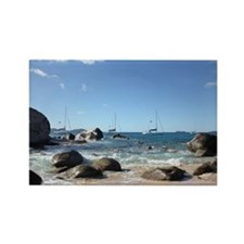 BVI Sailing Boats Rectangle Magnet