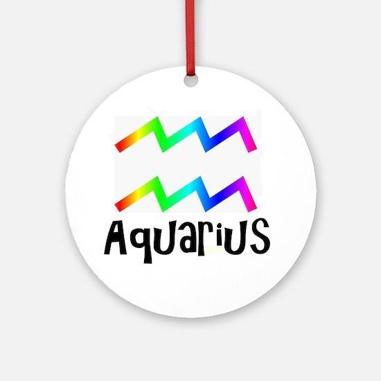 Aquarius Round Ornament