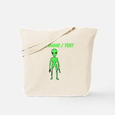Custom Green Alien Tote Bag