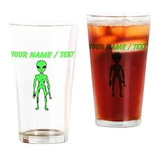 Custom Green Alien Drinking Glass