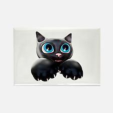 Kitty Cartoon Blue Eyes 3D Magnets