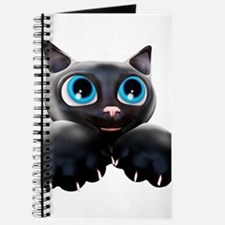 Kitty Cartoon Blue Eyes 3D Journal