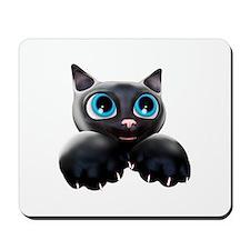Kitty Cartoon Blue Eyes 3D Mousepad