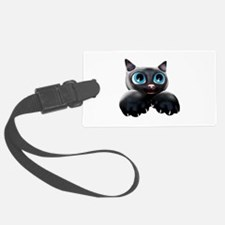 Kitty Cartoon Blue Eyes 3D Luggage Tag