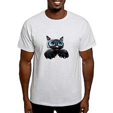 Kitty Cartoon Blue Eyes 3D T-Shirt
