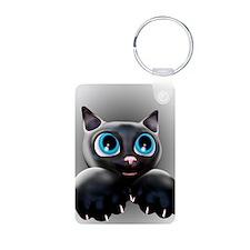 Kitty Cartoon Blue Eyes 3D Keychains