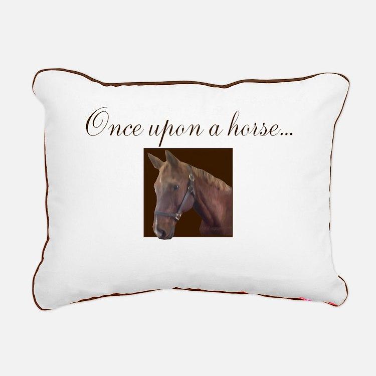 Equine Theme Rectangular Canvas Pillow #7124