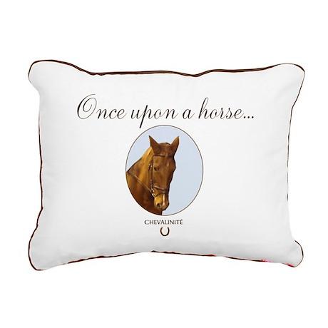 Horse Theme Item   Rectangular Canvas Pillow #5555
