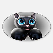 Kitty Cartoon Blue Eyes 3D Decal