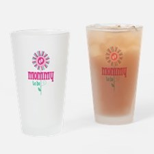 Flower Mommy To Be Drinking Glass