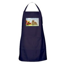 bunny and flowers Apron (dark)