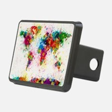 World Map Paint Splashes Hitch Cover