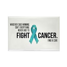 Fight Ovarian Cancer - Teal Ribbon Magnets