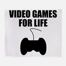 Video Games For Life Throw Blanket