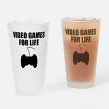 Video Games For Life Drinking Glass