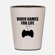 Video Games For Life Shot Glass