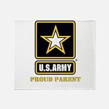 U.S. Army Proud Parent Throw Blanket