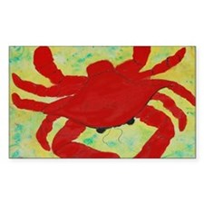 Red Crab ARt Decal