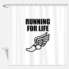 Running For Life Shower Curtain