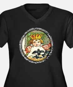 The King and Women's Plus Size V-Neck Dark T-Shirt