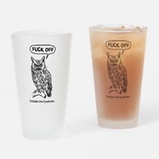 Cute Owl Drinking Glass