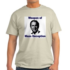 Weapon of Mass Deception Ash Grey T-Shirt