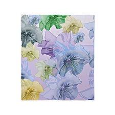 Pastel Floral Dream Throw Blanket