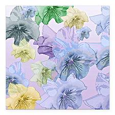 """Pastel Floral Dream Square Car Magnet 3"""" x 3"""""""
