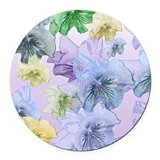 Pastel Floral Dream Round Car Magnet