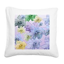 Pastel Floral Dream Square Canvas Pillow