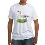 Snowy Mallard Hen Fitted T-Shirt