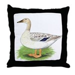 Snowy Mallard Hen Throw Pillow
