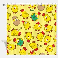 Funny Chicken Pattern Shower Curtain