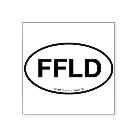 Fairfield Oval Sticker
