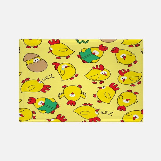 Funny Chicken Pattern Magnets