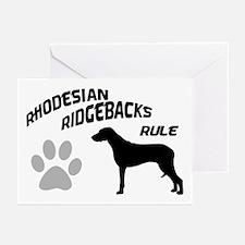 Rhodesian Ridgebacks Rule Greeting Cards (Package