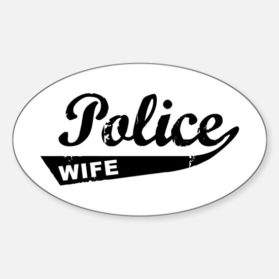 Vintage Police Wife Oval Decal