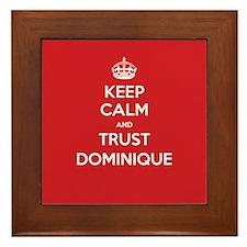 Trust Dominique Framed Tile