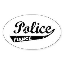 Vintage Police Fiance Oval Stickers