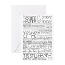 Desiderata Card Greeting Cards
