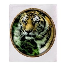 Jungle Tiger Throw Blanket