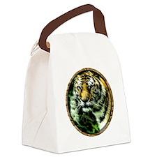 Jungle Tiger Canvas Lunch Bag
