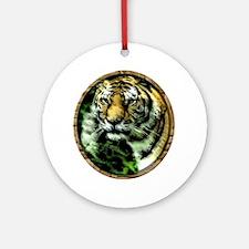 Jungle Tiger Round Ornament