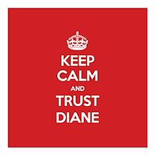 """Trust Diane Square Car Magnet 3"""" x 3"""""""