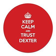 Trust Dexter Round Car Magnet