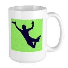 PAINTED GREEN BLUE DISC CATCH Mugs