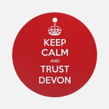 Trust Devon Ornament (Round)